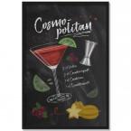 Poster Cocktail Cosmopolitan, mit Rahmen