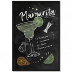 Poster Cocktail Margarita, mit Rahmen