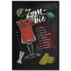 Poster Cocktail Zombie, mit Rahmen