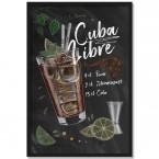 Poster Cocktail Cuba Libre, mit Rahmen