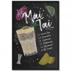Poster Cocktail Mai Tai, mit Rahmen