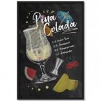 Poster Cocktail Pina Colada, mit Rahmen