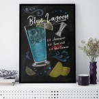 Poster Blue Lagoon Cocktail