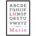 Poster Name Pink | individualisierbar