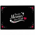 Glasschneidebrett Beste Mama der Welt Motiv 3