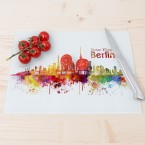 Glasschneidebrett Aquarell Skyline Berlin