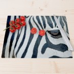 Glasschneidebrett Zebraauge