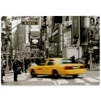 Glasschneidebrett New Yorker Taxi