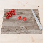 Glasschneidebrett Helles Holz