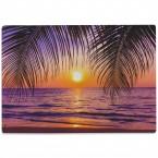 Glasschneidebrett Palmen und Sonnenuntergang