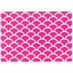 Glasschneidebrett Fischschuppen Muster Pink