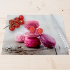 Glasschneidebrett Macarons