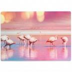 Glasschneidebrett Flamingo Gruppe