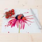 Glasschneidebrett Watercolor Flower