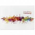 Glasschneidebrett Skyline Duisburg