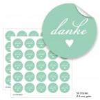 """Geschenktüten mit Aufklebern """"Danke"""" - grün"""