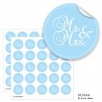 """Geschenktüten mit Aufklebern """"Mr. & Mrs."""" - blau"""