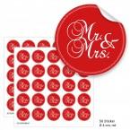 """Geschenktüten mit Aufklebern """"Mr. & Mrs."""" - rot"""