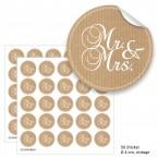 """Geschenktüten mit Aufklebern """"Mr. & Mrs."""" - vintage"""