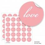 """Geschenktüten mit Aufklebern """"Love"""" - rosa"""