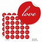 """Geschenktüten mit Aufklebern """"Love"""" - rot"""