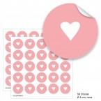 """Geschenktüten mit Aufklebern """"Herzchen"""" - rosa"""