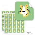 """Geschenktüten mit Aufklebern """"Tiger"""" - grün"""