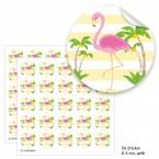 """Geschenktüten mit Aufklebern """"Flamingo"""" - gelb"""