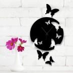 Wanduhr - Schmetterlinge