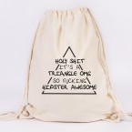 juniwords tunbeutel hipster triangle natur