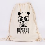 juniwords turnbeutel hipster panda