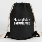 JUNIWORDS Turnbeutel My english is onewallfree