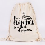 JUNIWORDS Turnbeutel Be a flamingo in a flock of pigeons