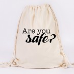 JUNIWORDS Turnbeutel Are you safe?