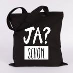 "JUNIWORDS Jutebeutel ""Ja? Schön"". Schwarz"