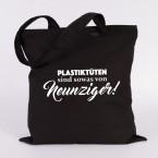 JUNIWORDS Jutebeutel Plastiktüten sind sowas von neunziger! Schwarz