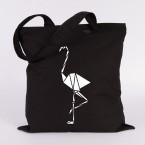 jutebeutel flamingo origami
