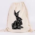 kaninchen origami turnbeutel