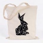 jutebeutel kaninchen origami