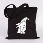 origami pinguin jutebeutel