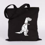 jutebeutel t-rex origami