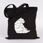 jutebeutel bär sitzend origami