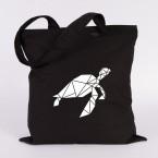 Schildkröte Origami Jutebeutel