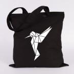jutebeutel kolibri origami