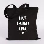 live laugh love jutebeutel