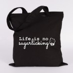 JUNIWORDS Jutebeutel Life is no sugarlicking