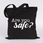 JUNIWORDS Jutebeutel Are you safe?