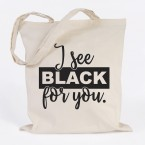 JUNIWORDS Jutebeutel I see black for you.
