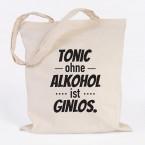 JUNIWORDS Jutebeutel Tonic ohne Alkohol ist Ginlos.