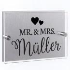 Hausnummernschild Mr. & Mrs.